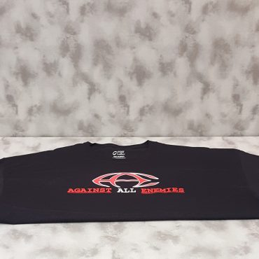 AGAINST ALL ENEMIES BLACK T-SHIRT (OLD STYLE)