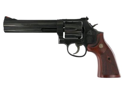 Smith and Wesson 586 357MAG 6″ BL/WD AS 6RD