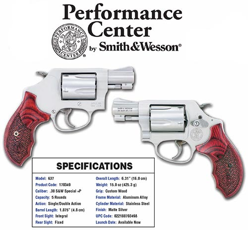 Smith and Wesson 637PC 38SPC 1-7/8″ SS/WD