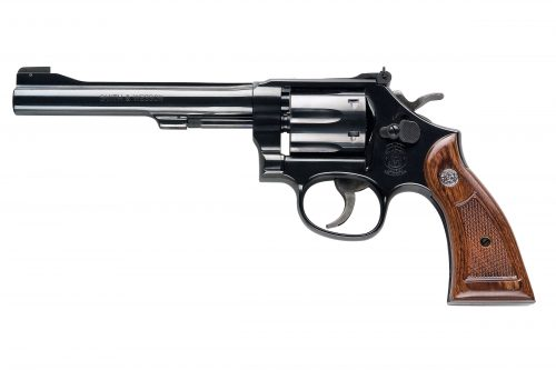 Smith and Wesson 17 MASTERPIECE 22LR 6″ BL/WD