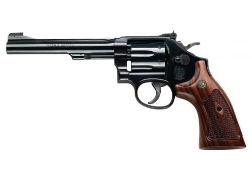Smith and Wesson 48 22MAG BL/WD 6RD 6″ AS