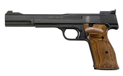Smith and Wesson 41 22LR 10+1 BLUE/WOOD 7″ AS
