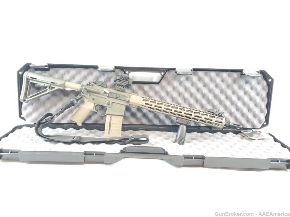 US Arms Patriot-15 Rifle Package OD Green/FDE Cerakote W/ Upgrades NEW!