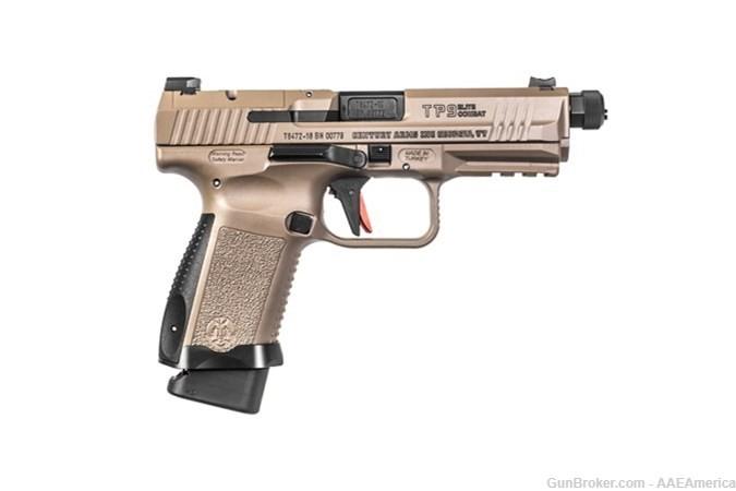 Private: Canik TP9 Elite Combat 9mm FDE Threaded Barrel